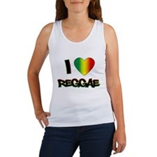 "I ""Love"" Reggae Women's Tank Top"