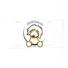 Yellow Labradoodle IAAM Aluminum License Plate