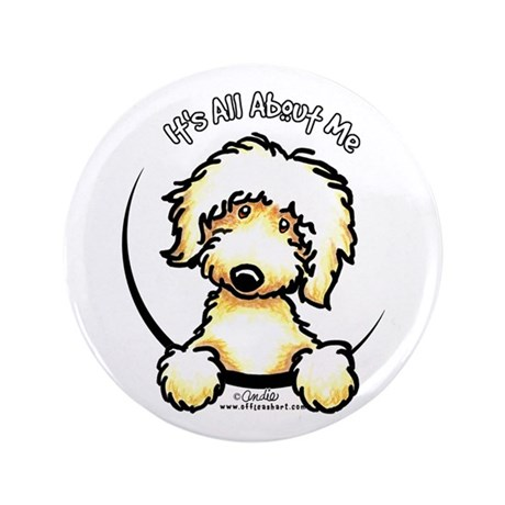 "Yellow Labradoodle IAAM 3.5"" Button"