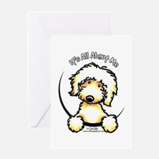 Yellow Labradoodle IAAM Greeting Card