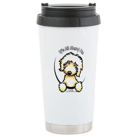 Yellow Labradoodle IAAM Stainless Steel Travel Mug