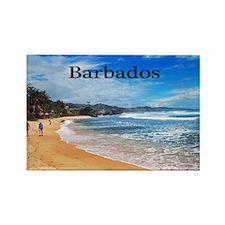 Barbados Rectangle Magnet