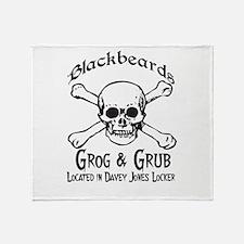 Blackbeards grog and grub Throw Blanket