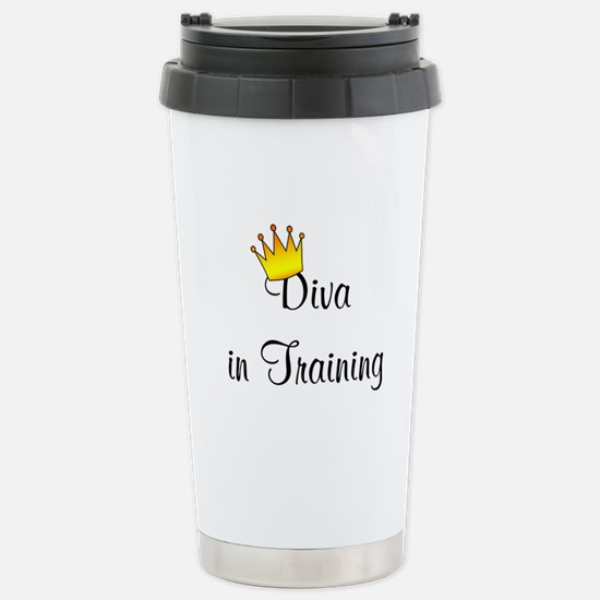 Ladies Stainless Steel Travel Mug (Diva in Trainin