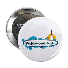 "Wildwood NJ - Surf Design 2.25"" Button"