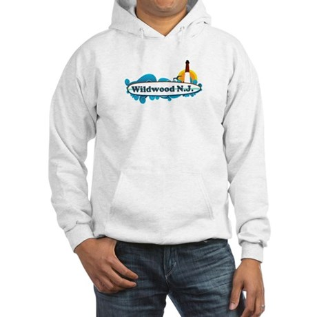 Wildwood NJ - Surf Design Hooded Sweatshirt