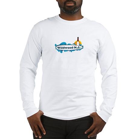 Wildwood NJ - Surf Design Long Sleeve T-Shirt