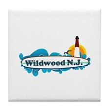 Wildwood NJ - Surf Design Tile Coaster