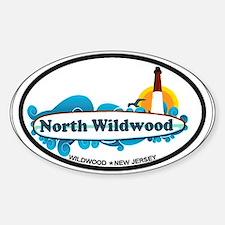 North Wildwood NJ - Surf Design Decal