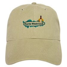 North Wildwood NJ - Surf Design Baseball Cap