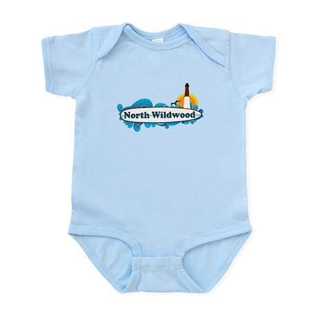 North Wildwood NJ - Surf Design Infant Bodysuit