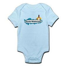 North Wildwood NJ - Surf Design Infant Bodysuit