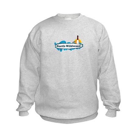 North Wildwood NJ - Surf Design Kids Sweatshirt