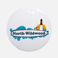 North Wildwood NJ - Surf Design Ornament (Round)