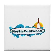 North Wildwood NJ - Surf Design Tile Coaster