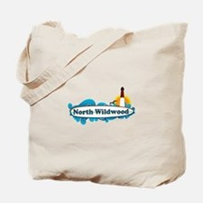 North Wildwood NJ - Surf Design Tote Bag