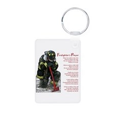 Firefighter Prayer Keychains