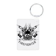 Firefighter Skull/Crossbones Keychains