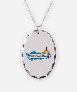 Wildwood Crest NJ - Surf Design Necklace