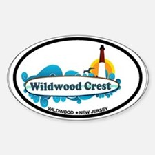 Wildwood Crest NJ - Surf Design Sticker (Oval)