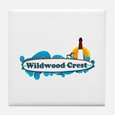 Wildwood Crest NJ - Surf Design Tile Coaster