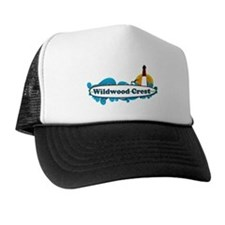 Wildwood Crest NJ - Surf Design Trucker Hat