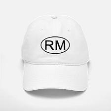 RM - Initial Oval Baseball Baseball Cap