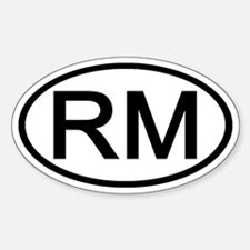 RM - Initial Oval Oval Decal
