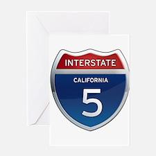 Interstate 5 - California Greeting Card