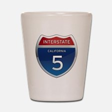 Interstate 5 - California Shot Glass