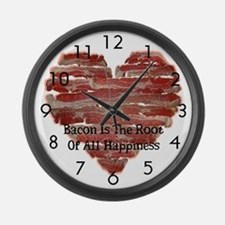 Bacon Happiness Large Wall Clock