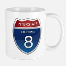 Interstate 8 - California Mugs