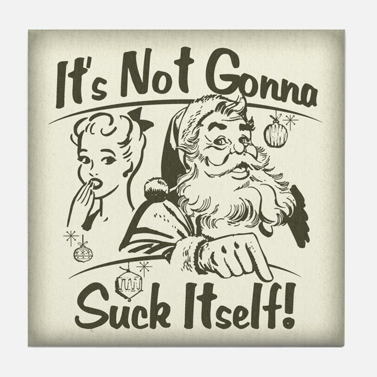 Bad Bad Santa! Tile Coaster
