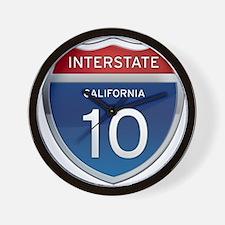 Interstate 10 - California Wall Clock