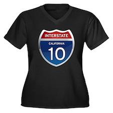 Interstate 10 - California Women's Plus Size V-Nec