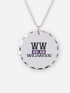 Wildwood NJ - Nautical Flags Design Necklace