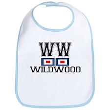 Wildwood NJ - Nautical Flags Design Bib