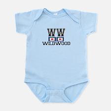 Wildwood NJ - Nautical Flags Design Infant Bodysui