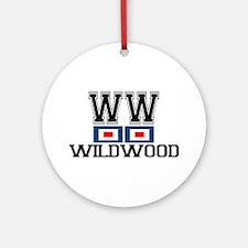 Wildwood NJ - Nautical Flags Design Ornament (Roun