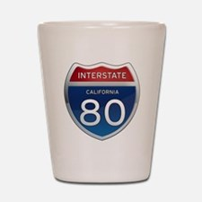 Interstate 80 - California Shot Glass