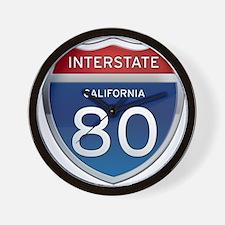 Interstate 80 - California Wall Clock