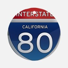 Interstate 80 - California Ornament (Round)