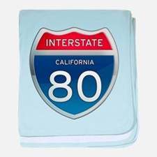 Interstate 80 - California baby blanket