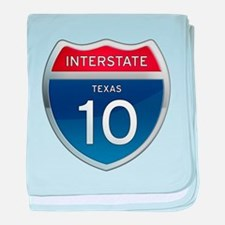 Interstate 10 - Texas baby blanket