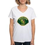Lancaster Sheriff Station Women's V-Neck T-Shirt