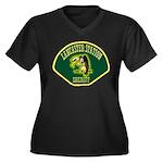 Lancaster Sheriff Station Women's Plus Size V-Neck