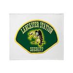 Lancaster Sheriff Station Throw Blanket