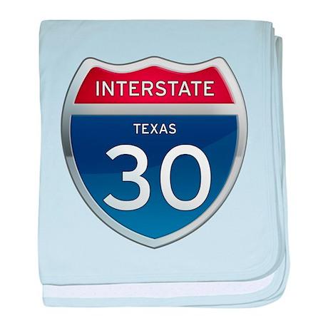 Interstate 30 - Texas baby blanket