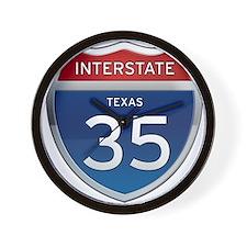 Interstate 35 - California Wall Clock