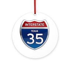 Interstate 35 - California Ornament (Round)